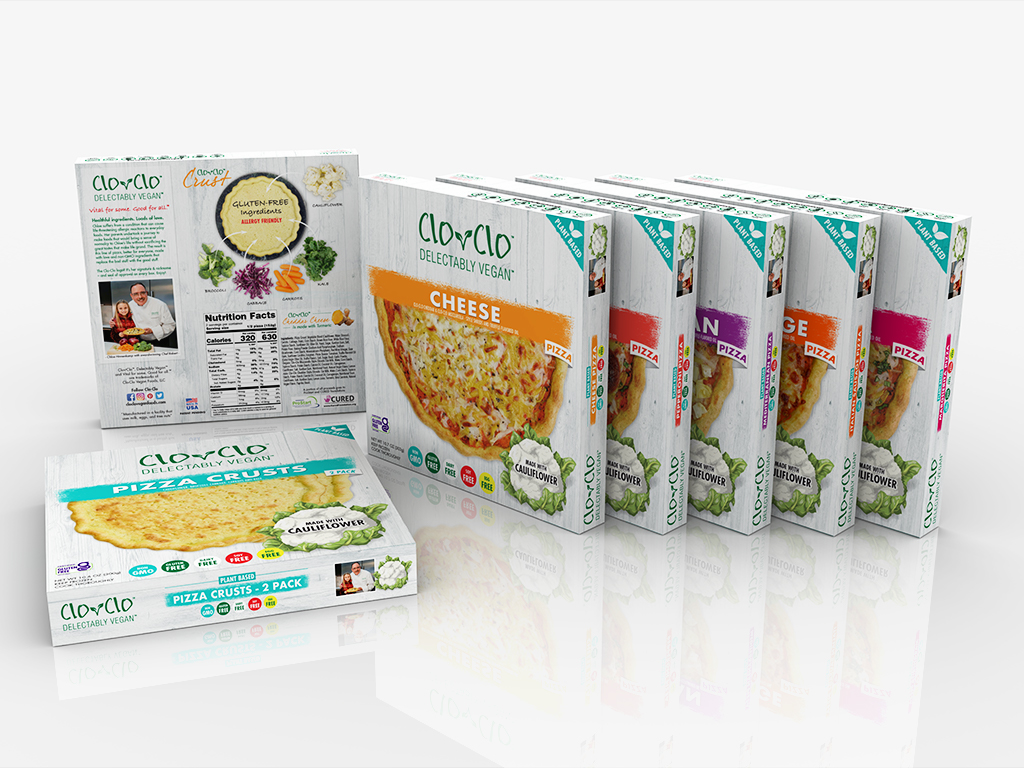 Clo Clo Vegan Foods Pizza Boxes