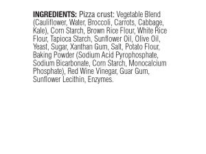 Clo Clo Vegan Foods Pizza Crusts Ingredients