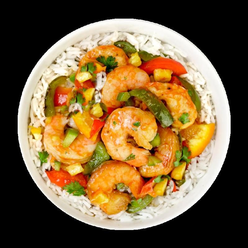 CLO-CLO Vegan Foods Hawaiian Shrimp Bowl Hero