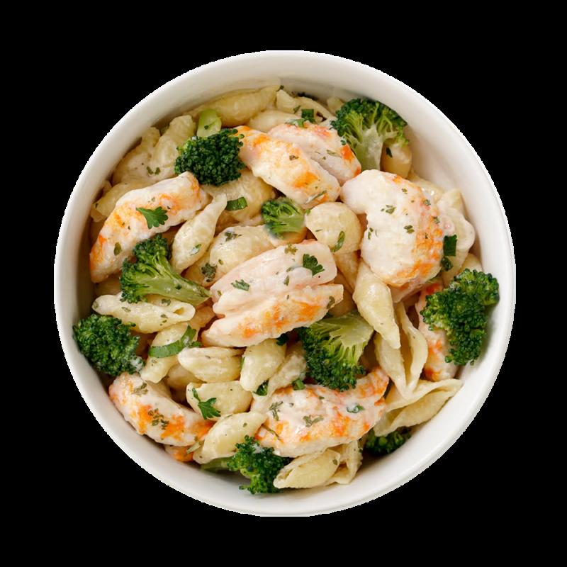 CLO-CLO Vegan Foods Shrimp Alfredo Bowl Hero