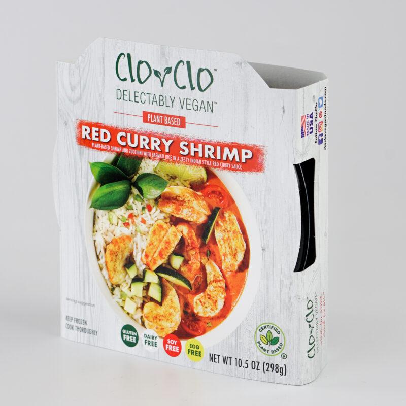 CLO-CLO Vegan Foods Red Curry Shrimp Bowl