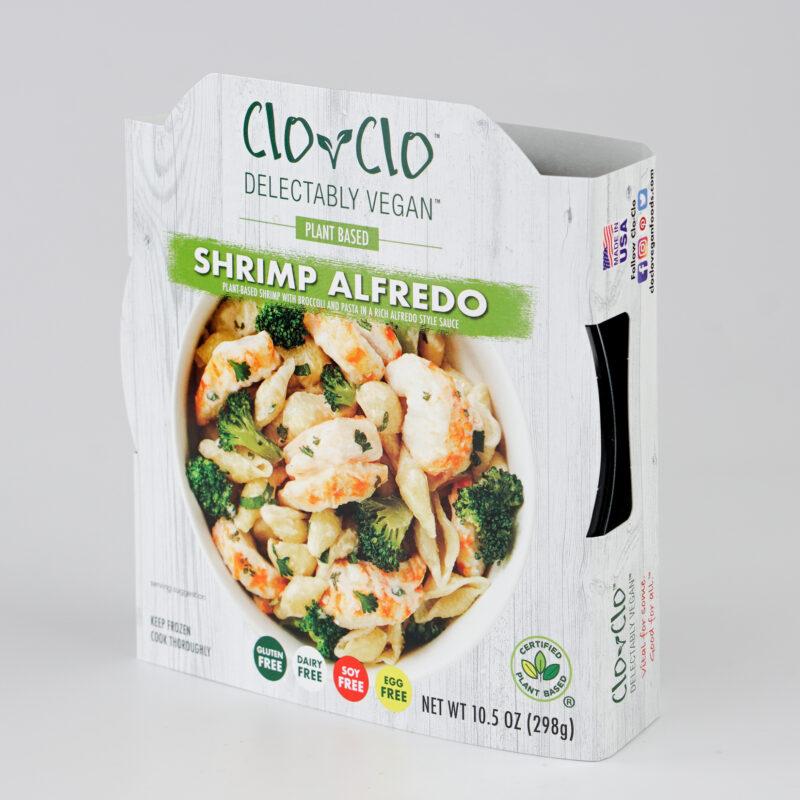CLO-CLO Vegan Foods Shrimp Alfredo Bowl