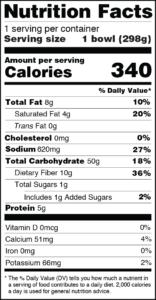 CLO-CLO Vegan Foods Shrimp Alfredo Nutrition Facts