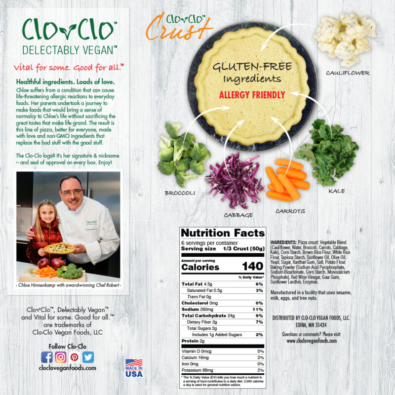 CLO-CLO Vegan Foods Crusts Cauliflower_Back