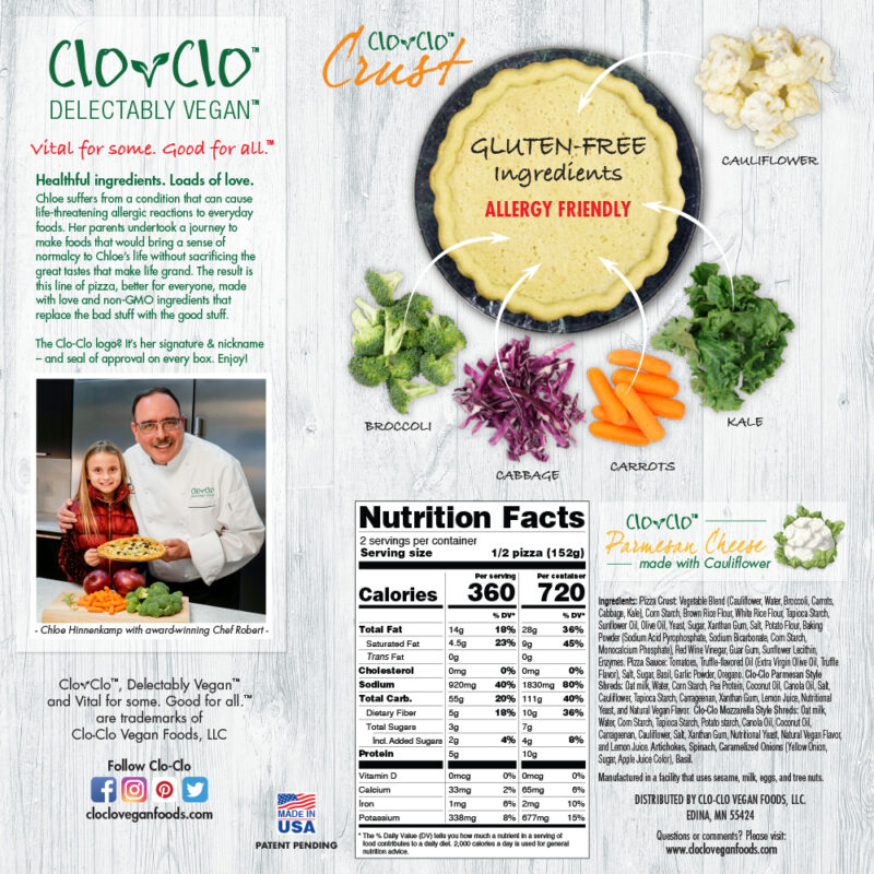CLO-CLO Vegan Foods Mediterranean Back
