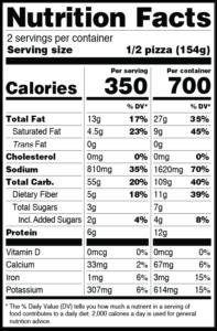 CLO-CLO Vegan Foods MOROCCAN Nutritional Labels