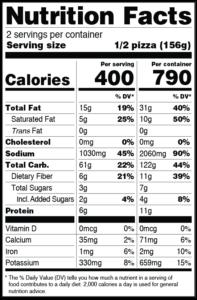 CLO-CLO Vegan Foods Pepperoni w/ Jalapeno Nutritional Labels