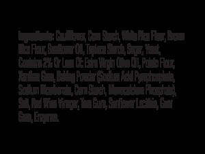 CLO-CLO Vegan Foods Cauliflower Breadsticks Ingredients